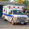 200925 Enterprise 1<br /> James Neiss/staff photographer <br /> Gasport, NY - Tri-Town Ambulance driver Tyler Fending gets his ambulance ready for whatever emergency should call him to action from their State Street station.