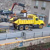 200717 Enterprise<br /> James Neiss/staff photographer <br /> Lockport, NY - Lock crews use a backhoe to clean out tree and other debri building up at the Lockport Locks.