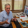 200929 Hartland Hero's 1<br /> James Neiss/staff photographer <br /> Town of Hartland, NY - The Town of Hartland Historian Norman LaJoie talks about the selection process for the Hometown Heroes banners to be displayed next summer.