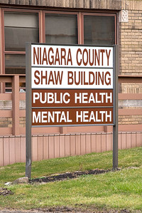 James Neiss/staff photographer  Lockport, NY - Niagara County Public Health building in Lockport sign.