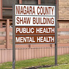 James Neiss/staff photographer <br /> Lockport, NY - Niagara County Public Health building in Lockport sign.