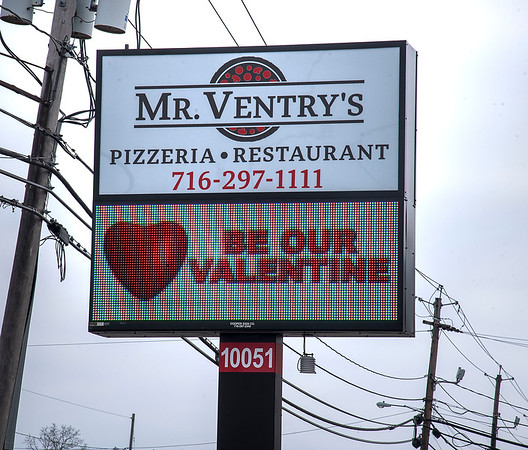 James Neiss/staff photographer <br /> Niagara Falls, NY - It's all about love at Mr. Ventry's Pizzeria and Restaurant this Valentine's.