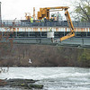 201117 Enterprise 1<br /> James Neiss/staff photographer <br /> Niagara Falls, NY - Crews work on the main Goat Island Bridge on Tuesday.