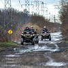James Neiss/staff photographer <br /> Pendleton, NY - A family that rides together gets muddy together, or so it appears as ATV riders hit the public trails in Pendleton.