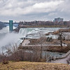 James Neiss/staff photographer <br /> Niagara Falls, NY - Though sparse at times, visitors continue to visit Prospect Point at Niagara Falls State Park.