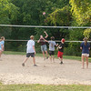 200924 Wilson PP 6<br /> James Neiss/staff photographer <br /> Wilson, NY -  Wilson High School students and friends enjoy a pickup game of volleyball at Wilson Tuscarora State Park.
