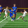 201105 Boys Soccer 3<br /> James Neiss/staff photographer <br /> Sanborn, NY - Lockport #11 Ricardo Maye keeps the ball away from Grand Island #20 Anthony Amato during soccer playoff game action at Niagara-Wheatfield.