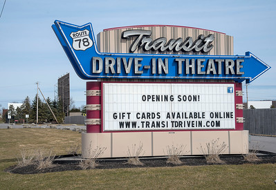 James Neiss/staff photographer  Lockport, NY - The Transit Drive-Inn has announced it will be closed until further notice.