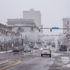 201201 Weather 3<br /> James Neiss/staff photographer <br /> Lockport, NY - A dusting of snow on Monday turned Main Street in Lockport into a winter wonderland.