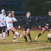 201020 Roy Hart Wilson 1<br /> James Neiss/staff photographer <br /> Middleport, NY - Wilson #17 Lilly O'Lay scores the first goal during soccer game action against Roy-Hart.