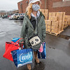 201221 Mobile Food Pantry 2<br /> James Neiss/staff photographer <br /> Niagara Falls - A food pantry recipient, who asked not to be identified, said she was grateful for the assistance. Staff and Volunteers with the St. John de LaSalle Food Pantry distributes food as part of a special mobile food pantry distribution hosted by the FeedMore WNY program.