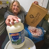 James Neiss/staff photographer <br /> Niagara Falls, NY - Judi of Judi's Lounge Bar & Grill at 2057 Military Road, has pleanty of chicken wings and blue cheese on hand for Superbowl Sunday. Super Bowl Sunday is known for being the biggest day of the year for chicken wings and pizza consumption.