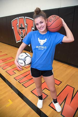 James Neiss/staff photographer <br /> Wilson, NY - Wilson High School athlete Skylar Munnikhuysen.