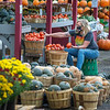 200924 Enterprise 2<br /> James Neiss/staff photographer <br /> Lockport, NY - Amy Mott pulled up a comfortable basket to sort tomatoes at the family owned Rinehart Farms market on Ridge Road. Mott, said she's been working on and off since she was a kid and represents the 4th generation of family members working the farm store.