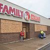 200603 Boarding Up 7<br /> James Neiss/staff photographer <br /> Niagara Falls, NY - It's business as usual at the boarded up Family Dollar on Main Street.