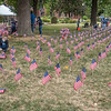 200911 Flags<br /> James Neiss/staff photographer <br /> Niagara Falls, NY - Employees from the Niagara Falls Home Depot and Niagara Falls Memorial Medical plant 2977 flags donated by Home Depot for a 9/11 ceremony at Schoelkopf Park.