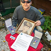 201016 Veteran Honors 1<br /> James Neiss/staff photographer <br /> Niagara Falls, NY - Thomas Martell has been trying for years to get his veteran uncle, Peter J. Dodd, a little local recognition for sacrificing his life in the Korean War by sending letters to local government officials and several Presidents of the United States. After all these years a response came from Niagara Falls Mayor Robert Restino in a letter addressed to his mother Elaine Martell, Peter Dodd's sister, honoring her brother for his sacrifice.