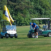 200720 Enterprise 2<br /> James Neiss/staff photographer <br /> Niagara Falls, NY - Bill Dompkowski of Cambria keeps his eye on the ball as he plays a round of golf with friends at the Hyde Park Golf Course.