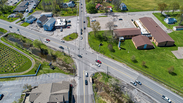 200520 Ward and NF Blvd 1<br /> James Neiss/staff photographer <br /> North Tonawanda, NY - The intersection of Ward Road and Niagara Falls Boulevard has been the site of many traffic accidents over the years.