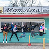 200507 Widewaters 1<br /> James Neiss/staff photographer <br /> Lockport, NY - The summer staff are jumping in excitement in anticipation of opening day at Marvins At Widewaters Saturday, May 8th. The popular canalside restaurant is open under new management. Staff from left, Brandin Masters, Arianna Allore, Haylee Green, Alyssa Cottrell, and Taylor Butters were on deck for a day of training on Thursday.