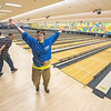 James Neiss/staff photographer <br /> Niagara Falls, NY - Connie Greer, a member of the WNY Challenger Sports League seems very happy with the result of her first bowling score during an outing at the Rapids Bowling Center. The Challenger Sports League, Inc. brochure say the league  is a safe happy place for individuals of all ages and with disabilities to experience the joy of athletic participation.