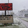 200509 May Snow 3<br /> James Neiss/staff photographer <br /> Niagara Falls, NY - Spring took a break in Sanborn as freezing temperatures and white out snow bands pass through Niagara County on Saturday.
