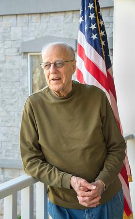 201110 Veteran 1<br /> James Neiss/staff photographer <br /> Lockport, NY - Army Air Force veteran Geogre Chapman.