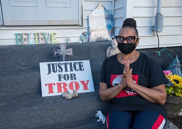 2006017 Justice for Troy 3<br /> James Neiss/staff photographer <br /> Lockport, NY - Troy Hodge's mother Mrs. Fatima Z. Hodge said she called the police to help her son and praised all the supporters that came out to honor him  one year after his death on June 19, 2019, while in police custody.