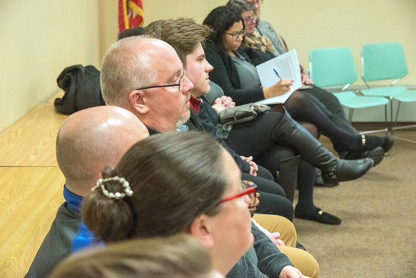 James Neiss/staff photographer <br /> Niagara Falls, NY - Concerned citizens attended a roundtable discussion at the Lockport Library hosted by The NYCLU, ACLU of New York, on the topic of Lockport High schools facial recognition system.