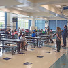 200908 LKPT Back to School 5<br /> James Neiss/staff photographer <br /> Lockport, NY - Students get ready to go back to class after finishing lunch at North Park Junior High on the first day of school.