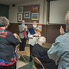 201021 Daybreak 4<br /> James Neiss/staff photographer <br /> Niagara Falls, NY - Retiring Hart Love & Soul Director Sister Beth Brosmer got some flowers and a round of applause during dedication ceremonies for the new Daybreak Program Heart Love & Soul Sister Beth Brosmer Center.
