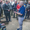 James Neiss/staff photographer <br /> Lockport, NY - Master trainer Jim Grady, a retired LA County Deputy Sheriff, stands entangled in a Bola Wrap around his legs.  Police agencies from around WNY including Niagara Falls attended a demonstration at the Lockport Police Department of the Bola Wrap, a non-lethal hand-held remote restraint device that discharges a bola style kevlar tether that entangles the subject.