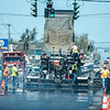 200520 Enterprise F<br /> James Neiss/staff photographer <br /> Town of Niagara, NY - Heat waves radiate from hot asphalt as paving crews resurface Military Road.