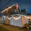 201222 Christmas Lights 3<br /> James Neiss/staff photographer <br /> Niagara Falls, NY - The Niagara Beautification Commission Annual Holiday Decorating Contest Hyde Park Area:  The corner of 29th and Porter Road. They re-used their halloween skeleton for their Christmas decorations! So clever!