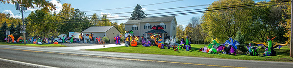 201016 Halloween House 1<br /> James Neiss/staff photographer <br /> Lockport, NY - This home on Lake Road in Wrights Corners is over the top Halloween.