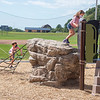 200903 Playground 3<br /> James Neiss/staff photographer <br /> Gasport, NY - Children enjoy playing at the new playground behind the Gasport Elementary School during a soft opening on Thursday.
