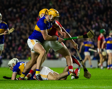 Cork's Declan Dalton in action against Tipperary's Joe O'Dwyer and Ronan Maher