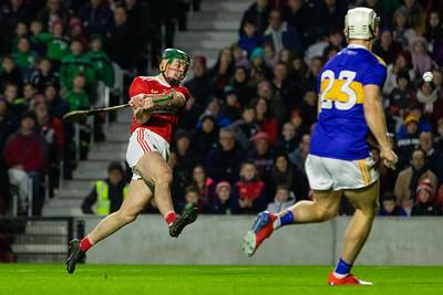 Cork's Robbie O'Flynn shoots his sides first goal