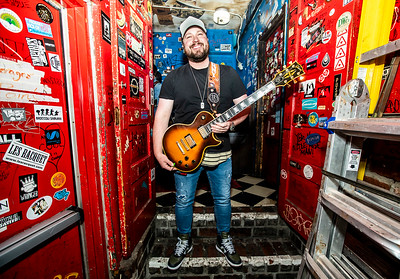 Country Star Mitchell Tenpenny poses in the green room of the Blue Bird Night Club. The porters is a part of a new project I am doing with all of the national acts that go through the venue.