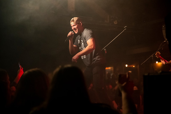Reece Phillips walks on stage at the Blue Bird Night Club on January 22. Phillips, a native on Whitehall Indiana, recently decided to pursue a career in country music.