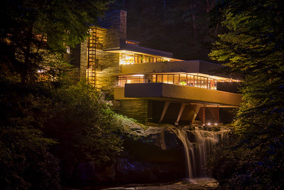 DA110, DT, Nigthtime at Fallingwater PA