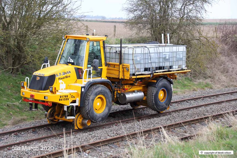 200305-001  A.P. Webb plant road/railer No. 99709 949009-3, seen on the test track at High Marnham.