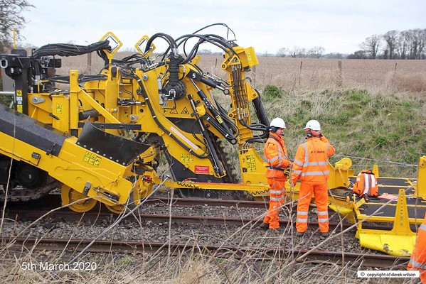 200305-013  A.P. Webb plant prototype undercutter being trialled at High Marnham, on the High Marnham Test Track.