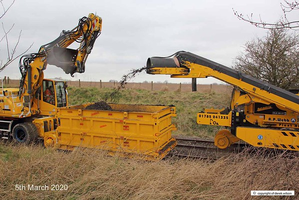 200305-015  A.P. Webb plant prototype undercutter being trialled at High Marnham, on the High Marnham Test Track.