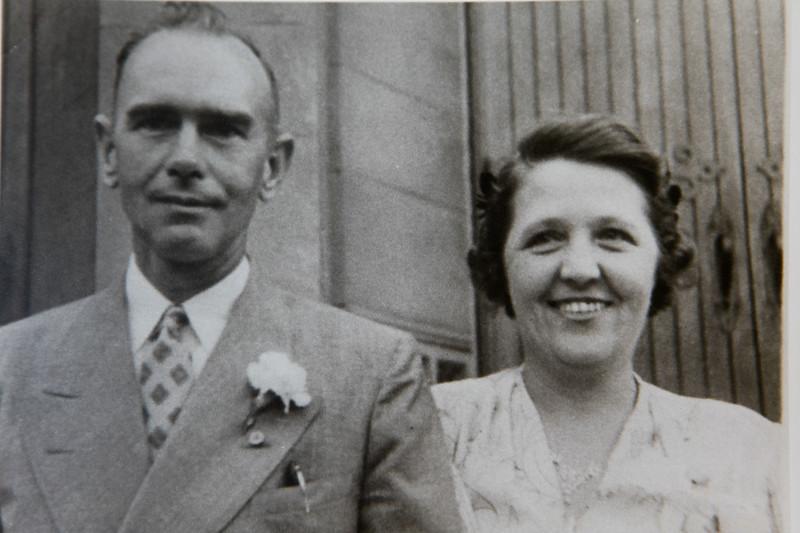 1945 (est) Grama and Grampa Rawlings -1