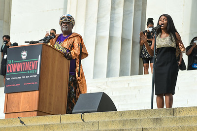 WASHINGTON, DC - AUGUST 28: National Action Networks Commitment March on Washington at the Lincoln Memorial and National Mall on Friday, August 28, 2020, in Washington, DC, USA. (Photo by: Aaron J.  / RedCarpetImages for NAN)