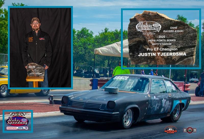 Justin Tjeerdsma ~ 2020 Watty's Garage Pro ET Champion