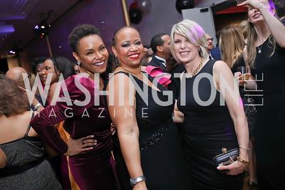 Tisha Hyter, Vice-Chair Nicole Venable, Penny Lee. Photo by Tony Powell. 2020 Alvin Ailey DC Gala. Kennedy Center. February 4, 2020