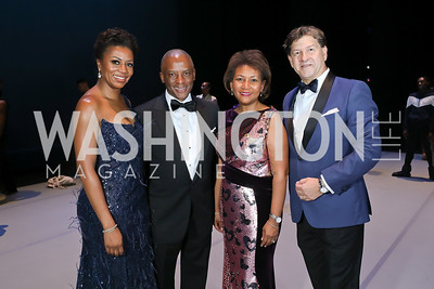 Christopher Womack with Gala Co-Chairs Sela Thompson Collins, DeDe Lea and Lyndon Boozer. Photo by Tony Powell. 2020 Alvin Ailey DC Gala. Kennedy Center. February 4, 2020