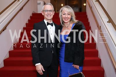 Executive Director Bennett Rink, Dahlia Neiss. Photo by Tony Powell. 2020 Alvin Ailey DC Gala. Kennedy Center. February 4, 2020